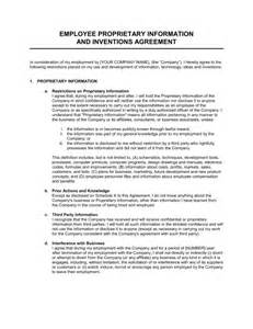 proprietary information and inventions agreement