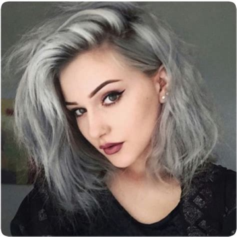 grey hair dye granny hair young women dyeing their hair gray is the