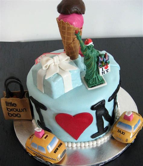 New York Themed Cake Decorations by New York Themed Cake Ideas For S Sweet 16