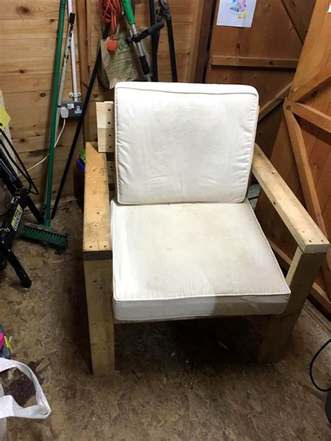 diy armchair cushioned pallet armchair diy