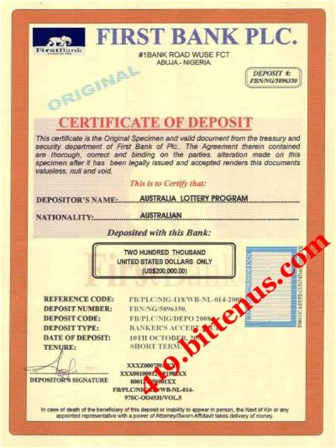 certificate of deposit template certificate of deposit