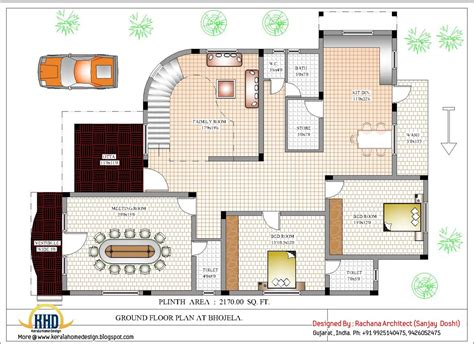 Floor House Plans by Luxury Indian Home Design With House Plan 4200 Sq Ft