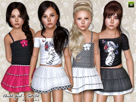 Sims 2 Clothing The Sims Resource | lillka s child girl set 02
