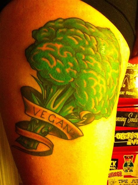 broccoli vegan tattoo