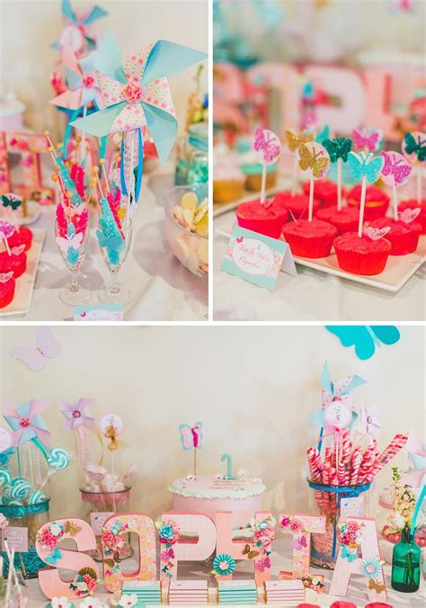 cute themes for birthday parties butterfly themed 1st birthday party with lots of cute