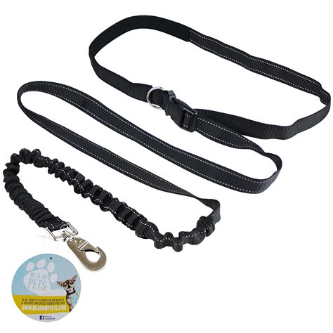 waist leash me my pets free adjustable waist lead leash walking running ebay