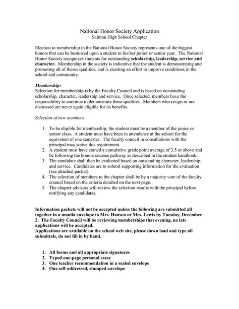 Nhs Essay Tips by National Honor Society Personal Essay Sle Of Introductory Paragraph For Research Paper