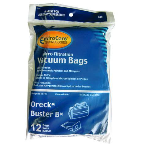 oreck buster b vacuum bags sbb 12 pack vacuum cleaners