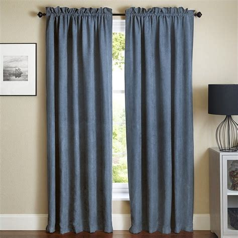 blackout curtains 84 inch blazing needles 84 inch blackout curtain panels in indigo