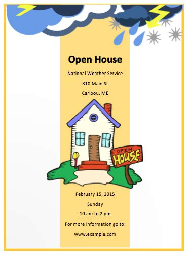 Free Open House Templates by Open House Flyer Template Free Flyer Designs