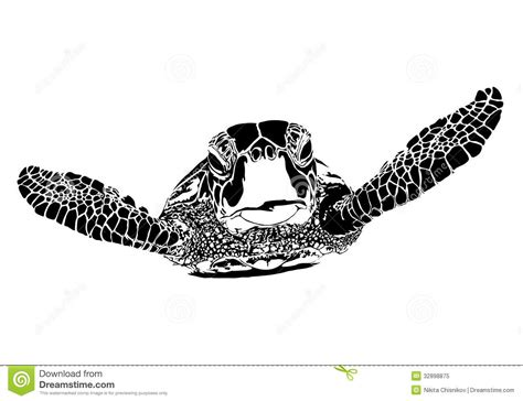 turtle silhouette royalty free stock photo image 32898875
