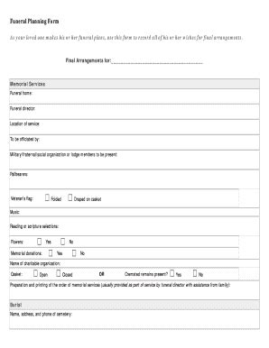 funeral planning worksheet free worksheets library