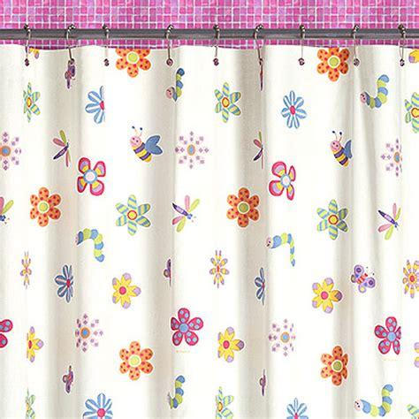 little girls shower curtains flowerland shower curtain