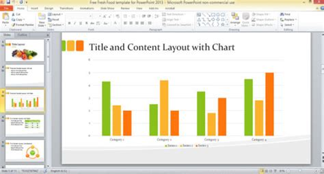 how to create a powerpoint template 2013 free fresh food template for powerpoint 2013 powerpoint