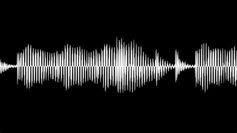 sound wave audio waveform animation simple black and white sound