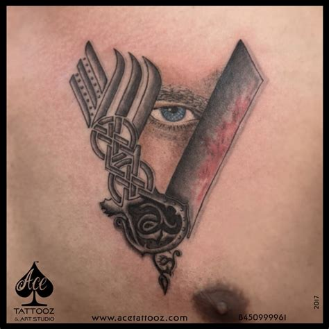 viking v symbol tattoo ace tattooz