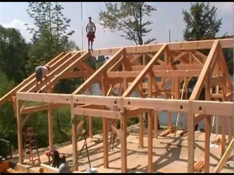 Timber Frame Cottage Raising In Pennsylvania Youtube Timber Frame Home Plans Pennsylvania