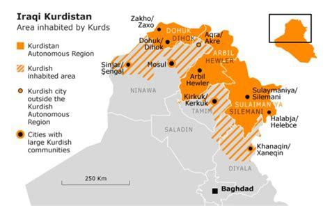 map of iraqi kurdistan kurdistan on the map