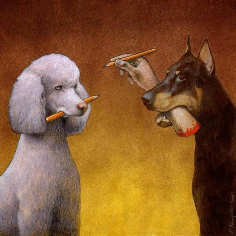 Compact Kitchen Design Ideas thought provoking illustrations by pawel kuczynski