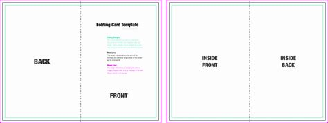 Foldable Card Template Word by 8 Foldable Card Template Word Sletemplatess