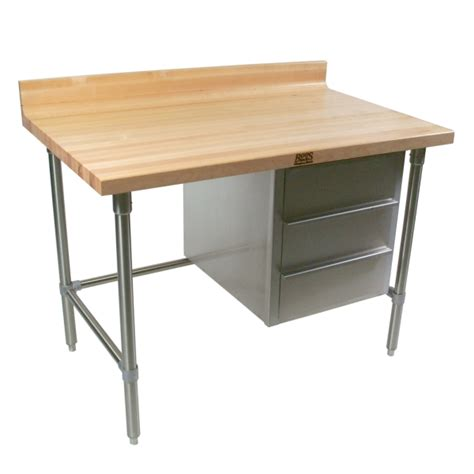 Boos Furniture by Boos Bt Maple Bakers Tables W 3 Drawers Bt1s03
