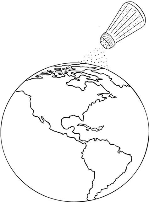 Salt Of The World Coloring Page | salt of the earth coloring page
