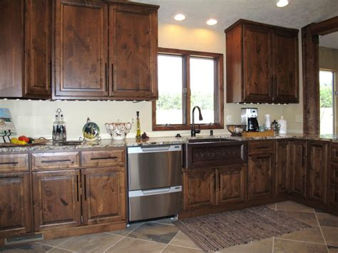 Kitchens With Wood Cabinets Alder Wood Kitchen Cabinets Healthycabinetmakers