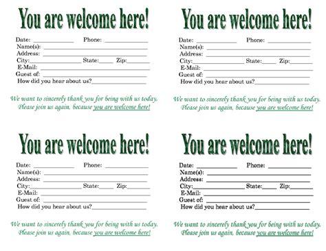 church attendance cards