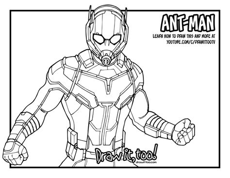 marvel giant coloring pages ant man giant man captain america civil war drawing