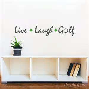 golf wall stickers items similar to live laugh golf custom color wall
