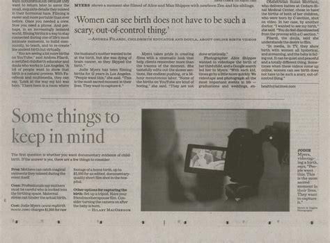 los angeles times saturday section the birth of a trend posting childbirth videos