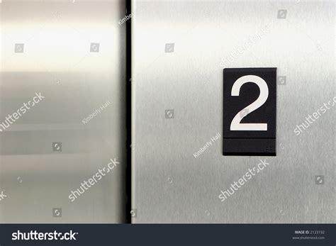 elevator floor number 2 stock photo 2123192