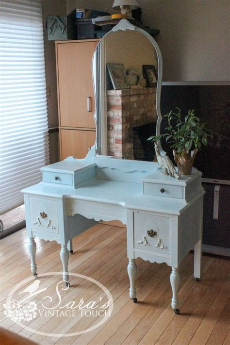 Retro Bedroom Vanity by Antique Makeup Vanity Dressing Table Refinished In
