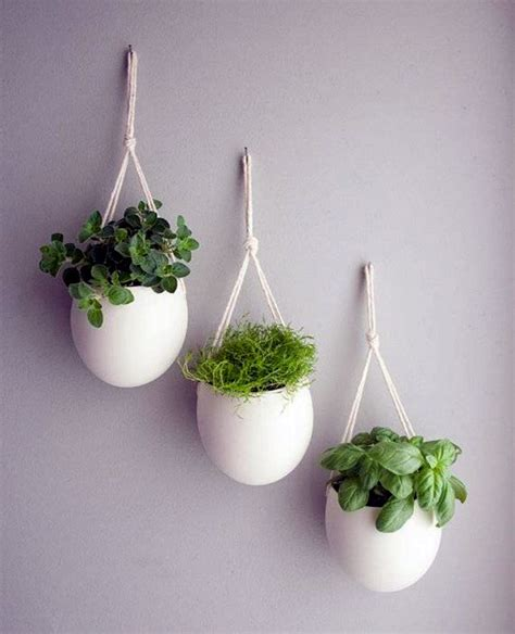 Indoor Wall Hanging Planter White Porcelaine White Hanging Planter