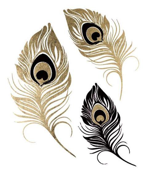 Lolitattoo Temporary Peacock Feather temporary tattoos and tattoos black and gold peacock feathers tattoos