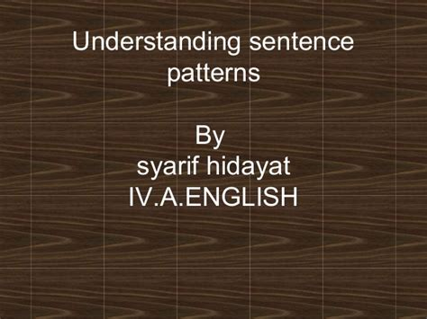 sentence pattern s lv sc understanding sentence patterns