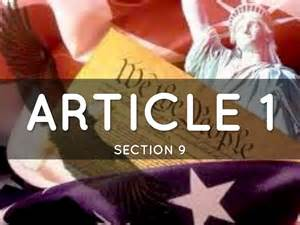 Article I Section 9 Of The Us Constitution by Constitution By Lydon