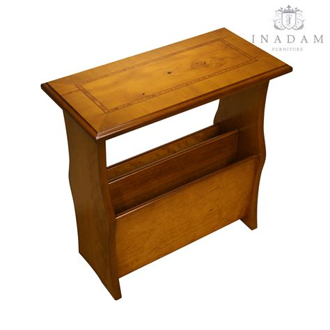 inadam furniture magazine table mahogany or yew