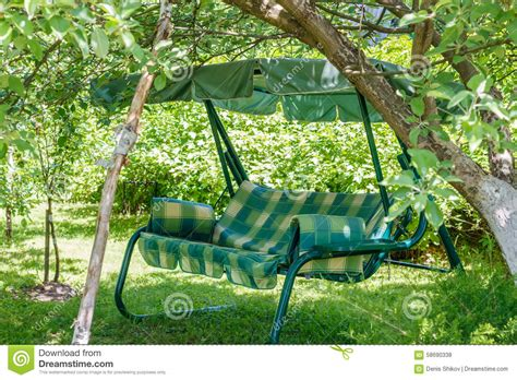 swing in the garden canopy swing stock photo image 58690338