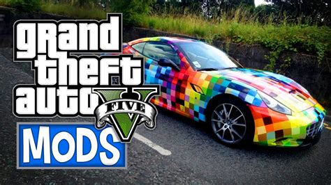 rainbow cars gta 5 quot rainbow cars quot mod gta 5 gameplay