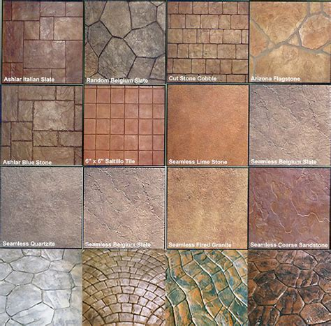 stamped concrete patterns 171 free patterns