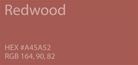 redwood color 24 shades of color palette graf1x