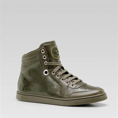 best mens sneakers gucci mens sneakers hi top classic army green gg logo
