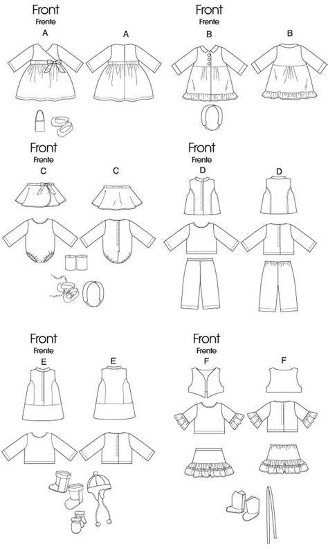 patterns free clothes free printable doll clothes patterns m6257 clothes for