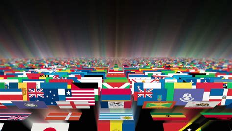 flags of the world background flags of the different countries on a background of the