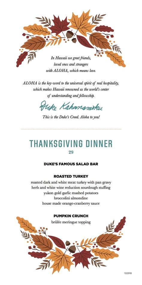 Traditional Thanksgiving Meal Restaurant