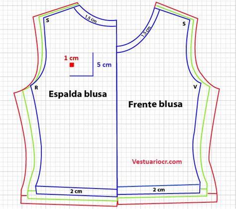 moldes corte costura gratis patron blusa b 225 sica para mujer patrones y moldes gratis