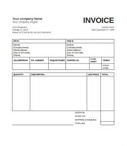 Simple Sales Invoice Template by 20 Blank Invoice Templates Free Premium Templates