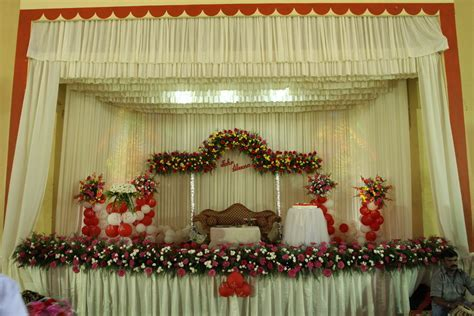 Stage decor for traditional wedding, traditional christian