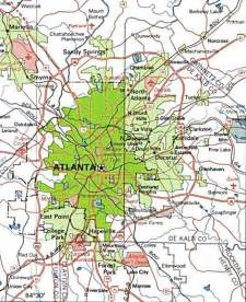 Map Of Atlanta atlanta map free printable maps